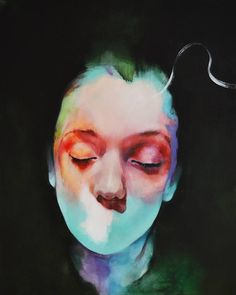 There Is Soft by Michał Janowski #painting #portrait #color