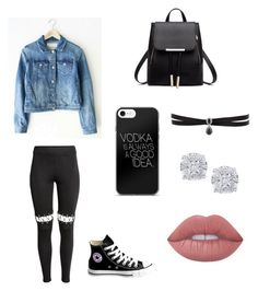 """""""Collage"""" by vintage6739 on Polyvore featuring H&M, Converse, Fallon, Effy Jewelry and Lime Crime"""