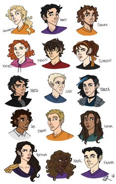 Percy Jackson characters... Except Nico should be younger...