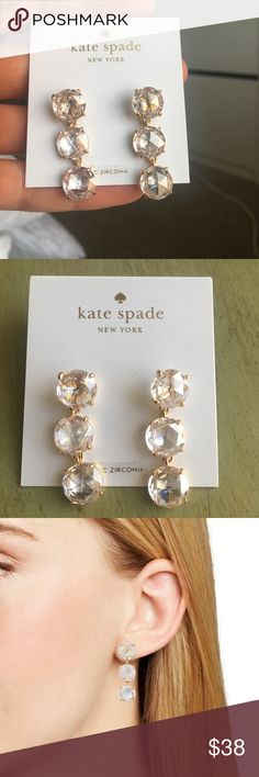 13e9385c7 Kate Spade Bright Ideas Triple Drop Earrings Sparkle at your next special  occasion in these drop earrings illuminated with a trio of faceted crystals.  width ...