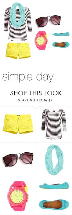 """""""Simple day"""" by lalalou63 ❤ liked on Polyvore featuring H&M, Dr. Denim, Wet Seal, Juicy Couture and Fendi"""