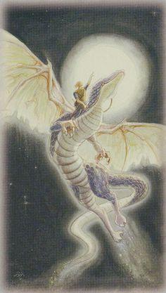 Celtic Dragon Tarot (DJ Conway, Lisa Hunt): Knight of Wands