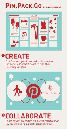 To receive personalized recommendations from Four Seasons local experts, please take the following steps: 1. Create a Pin.Pack.Go board on Pinterest. 2. Leave a comment on this pin indicating which Four Seasons you'll be visiting. 3. The hotel you specified will follow you on Pinterest. Follow back and invite the hotel to pin as a collaborator on your board. The hotel's local experts will pin recommendations filled with insider knowledge and hidden gems. 4. Pack and Go!