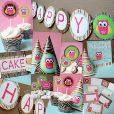 clara and the cupcake nutcracker hand-illustrated and hand-glittered paper party goods Owl party decorations lego LEGO lego party ideas Wash. Owl Themed Parties, Owl Parties, Owl Birthday Parties, Birthday Ideas, 3rd Birthday, Birthday Stuff, Birthday Photos, Owl Birthday Decorations, Owl Decorations