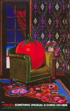 Milton Glaser, poster design for Tomato Music Company, 1974. Something unusual is going on here … ViaCooper Hewitt.