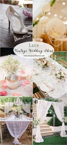 276 Best Lace Wedding Decorations Images Wedding Wedding