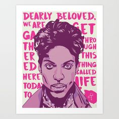 A tribute art piece to 'The Artist Formerly Known as Prince'