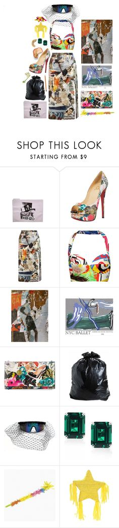 """""""Trash Queen"""" by marcusv ❤ liked on Polyvore featuring Kenzo, Christian Louboutin, Christopher Kane, Moschino and CARAT* London"""