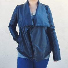 "HP🎊BB Dakota Vegan Leather Jacket Jack by BB Dakota Vegan Leather Jacket with open front lapels. Side pockets. New with tags! 🔹Make a reasonable offer via ""offer"" button.        🔹Discount on bundles!                                               🔹No trades. BB Dakota Jackets & Coats"