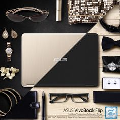 #ASUS #VivoBookFlip comes in Icicle Gold and Pure Black colors with a metallic finish that suits your taste.
