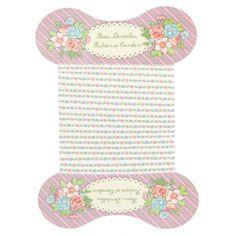 Un joli ruban brodé de fleurettes pastel pour toutes les décorations romantiques, mariage et baptême
