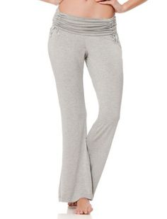 2e9454a7debb3 A Pea in the Pod Adjustable Waist Maternity Pajama Pants in Heather Grey