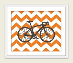 Bike Chevron Nursery Wall Art Print Modern Home Decor by AldariArt, $18.00  - http://www.wocycling.com