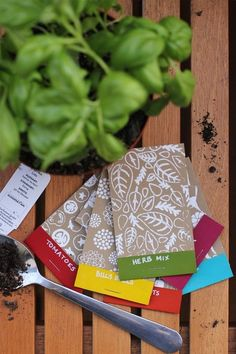 printed seed packets!