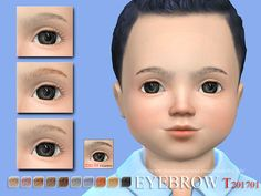 Eyebrows for cute toddlers! Soft nature look.  Enjoy, thank you very much!  Found in TSR Category 'Sims 4 Facial Hair'