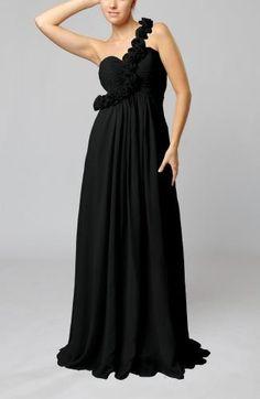Chiffon One-shoulder Romantic Evening Gowns - Order Link: http://www.theweddingdresses.com/chiffon-one-shoulder-romantic-evening-gowns-twdn6784.html - Embellishments: Ruching , Flower , Pleated; Length: Sweep/Brush Train; Fabric: Chiffon; Waist: Empire - Price: 102.99USD