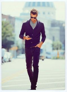 Workin' it. #cardigan #sweater #casual #men #style