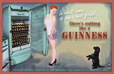 Guinness the Dog  -Client commissioned ad; printed on tin  -Photo credit Vintage Girl Studios