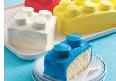 LEGO eat cake  ...Isn't this a cute idea for a kids cake
