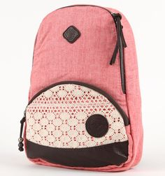 Roxy Great Outdoors Crochet Backpack - too cute Crochet Backpack, Backpack Purse, Fashion Backpack, Roxy Backpacks, School Backpacks, Cute Bags, Pacsun, Swagg, Backpacker