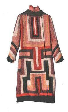Sonia Delaunay, Coat made for Gloria Swanson. France, 1923-24. Wool embroidery on cotton canvas