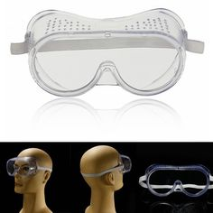 9adf3e321e  US 2.82  Protection Goggles Eye Protective Safety Glasses Anti Fog Clear   protection  . Motorcycle ...