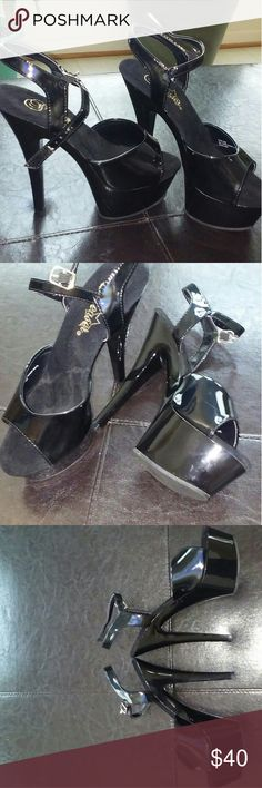"Pleaser platform stelletoes Pleaser 6"" Platform High Heels with a 2"" platform- Size 7 New, in original box with storage bags. Pleaser Shoes Platforms"