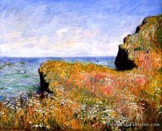 3 Edge der la Falaise At Pourville Claude Monet