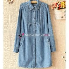 Buy 'Ringnor – Dotted Denim Shirtdress' with Free Shipping at YesStyle.ca. Browse and shop for thousands of Asian fashion items from China and more!