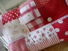 Red and white cushion
