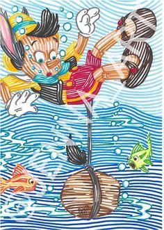 Pinocchio line art