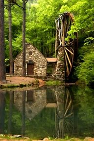 Old mill at Berry College - Rome, Georgia Hike the Alma Mater #ergobaby #idealmothersday #babywearing