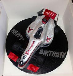 Formula 1 McLaren cake Happy Birthday, Birthday Cake, Celebration Cakes, Formula 1, Cake Decorating, Birthdays, Decorations, Happy Aniversary, Shower Cakes