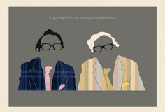 Two Ronnies Poster Original graphic poster art designed in The Northern Line studio in Ulverston, Cumbria. We ship worldwide.  #posters #graphicart