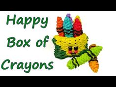 Happy Box of Crayons Tutorial by feelinspiffy (Rainbow Loom) - YouTube