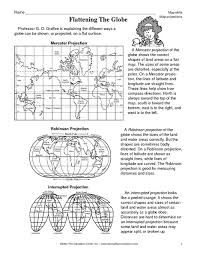 Map Projections Worksheet Karlapa Ponderresearch Co