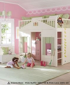 This is so cute! What little girl wouldn't like a bedroom like this!