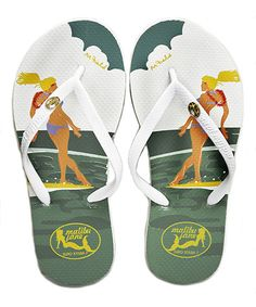 2fe8cd9674095 Love this White Slipper Surfer Girl by M Field Flip-Flop on  zulily!