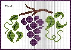 Grapes cross stitch. Fruit X-S.