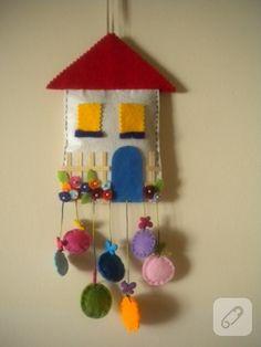 Keçe ev duvar ve kapı süsü....