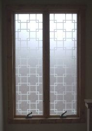 "White Gossamer Squares Decorative Window Film - 36"" Wide 