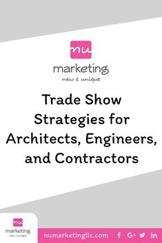 Many companies don't maximize their exposure or presence at trade shows. Most of the work occurs before and after the show. The trade show is the easy part. Content Marketing Strategy, Social Media Marketing, Construction Business, Wish You The Best, Be Your Own Boss, Online Earning, Social Media Content, Business Branding, Trade Show