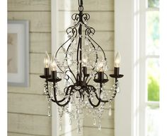 Paige Crystal Chandelier | Pottery Barn - Home and Garden Design Ideas Over dinning room table x 2