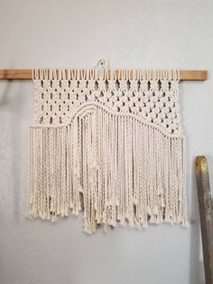 "Large Macrame Wall Hanging ""Rainbow"""