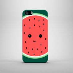 Cute Watermelon Face iPhone Case For iPhone 4 by PatternPanda, £13.00