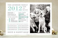 Family Year in Review New Year's Photo Cards by j.... | Minted