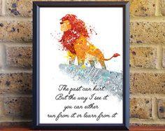 Disney König der Löwen Aquarell Poster Print von GenefyPrints