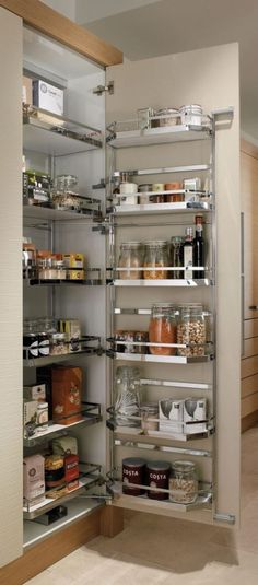 Pull Out Shelves An Best Option for Kitchen Pantry Storage. Pull Out Shelves An Best Option for Kitchen Pantry Storage. 35 Variety Of Appliances Storage Ideas for Your Kitchen Kitchen Corner Cupboard, Kitchen Cupboard Organization, Kitchen Pantry Cabinets, Diy Kitchen Storage, Modern Kitchen Cabinets, Organized Kitchen, Corner Pantry, Cupboard Storage, Kitchen Utensils