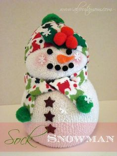 sock snowman how to, crafts, seasonal holiday decor Sock Snowman, Snowman Crafts, Christmas Projects, Holiday Crafts, Holiday Fun, Holiday Decor, Snowman Cookies, Snowman Tree, Christmas Ideas