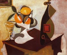 bodegon Pablo Ruiz Picasso. still life with Lemon and oranges - Buscar con Google